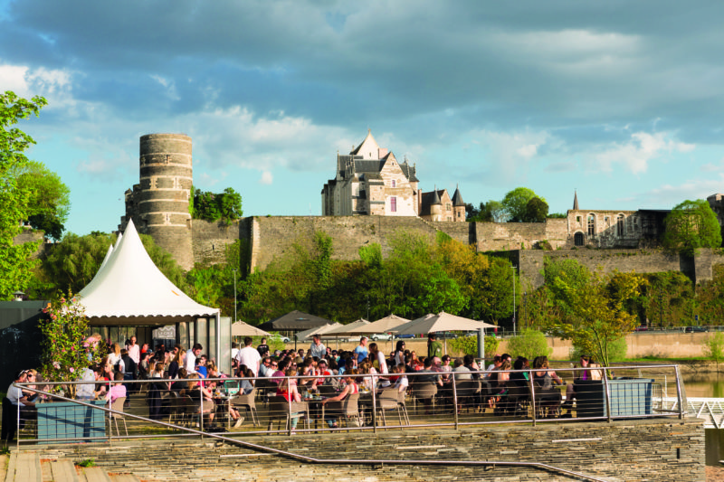 Drink in the breathtaking view of the Château d'Angers over an apéro.