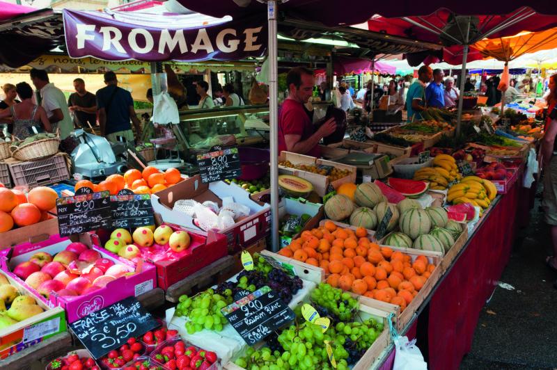 Aix-en-Provence's bountiful market stretches along the Place de Prêcheurs.