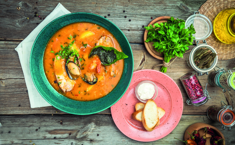 Kick off your gourmet tour with a steaming dish of bouillabaisse laden with soft morsels of fish and heaps of glorious seafood.