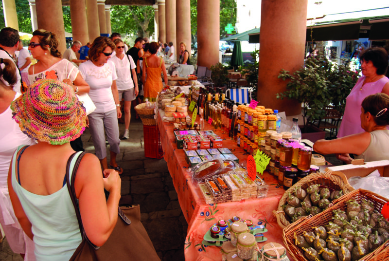 Markets are less common in Corsica than mainland France, but the produce sold is fiercely local.