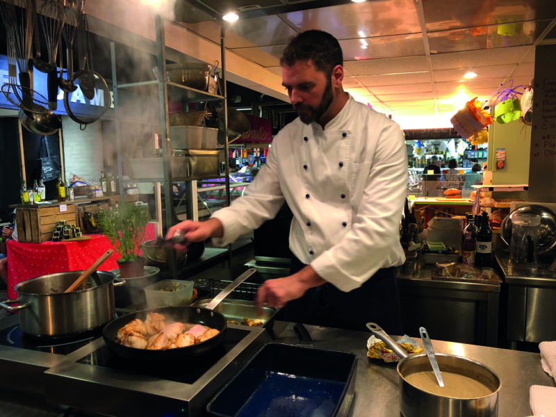 Learn how to cook like a native with chef Jon Chiri at his stand, Cuisine Centr'Halles in Avignon's Les Halles.