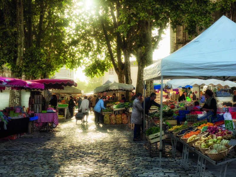 Early morning at the lovely Saintes market in Charente-Maritime.
