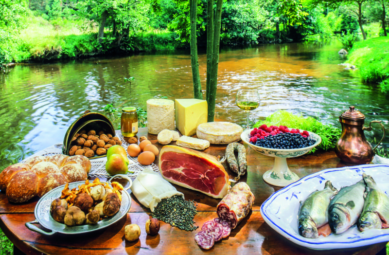 Nuts, cheese galore, charcuterie, juicy fruit… the region is an epicurean paradise.