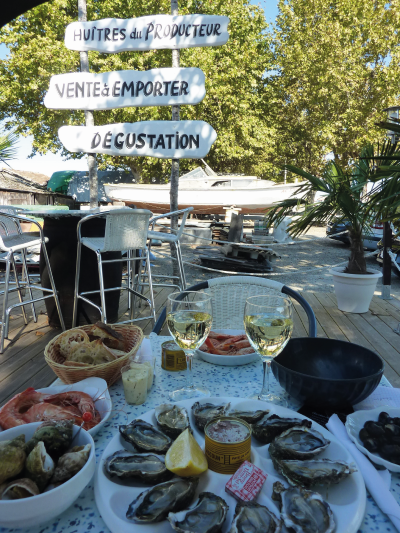 Arcachon Bay, west of Bordeaux, is famous for its oysters.