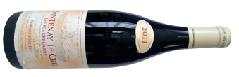 A bottle of domaine borgeot les beauregards santenay 1er cru 2011 from Burgundy