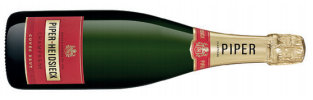 A bottle of piper-heidsieck cuvée brut a champagne with a fruity flavour