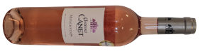 A bottle of château canet minervois a smooth rosé from Languedoc-Roussillon in France