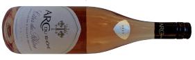 A bottle of arc du rhône rosé  a fruity rosé from France