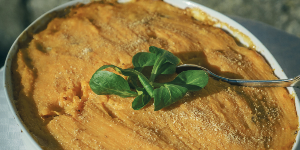 Cottage pie with sweet potatoes