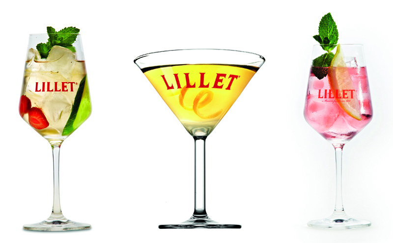3 lillet cocktails