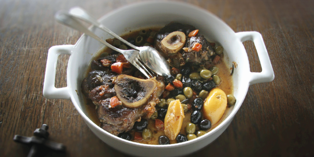 Ossobuco with lemon and olives