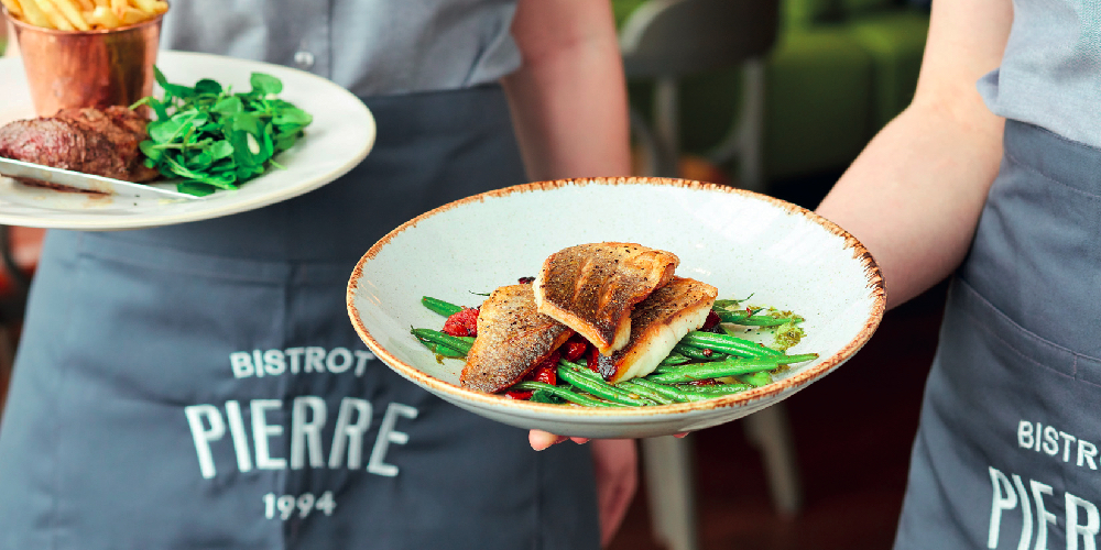 Adam Townsley's Sea bass with green beans and sun-dried tomatoes