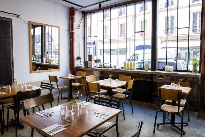 Inside the soya cantine bio restaurant in paris