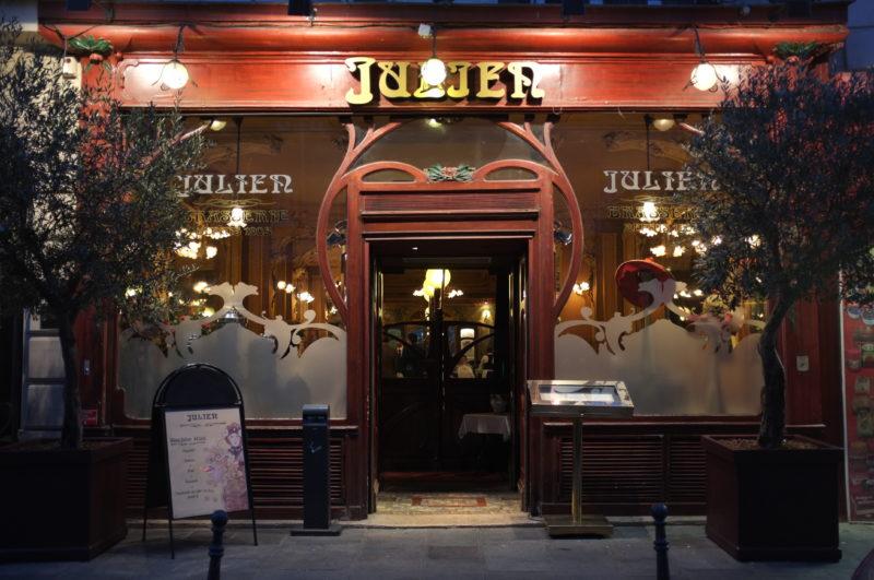 Exterior of chez julien restaurant