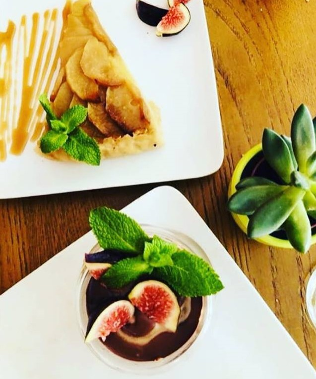 Tasty desserts from le grenier de notre-dame in paris