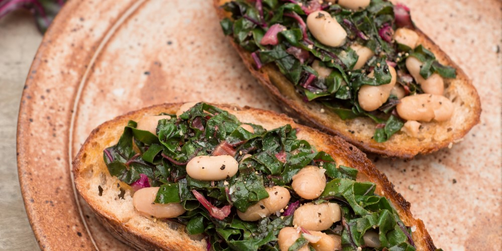 Erin Gleeson's Greens and beans Tartines
