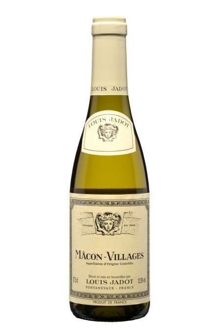 A bottle of Louis Jadot Mâcon Villages a chardonnay from France