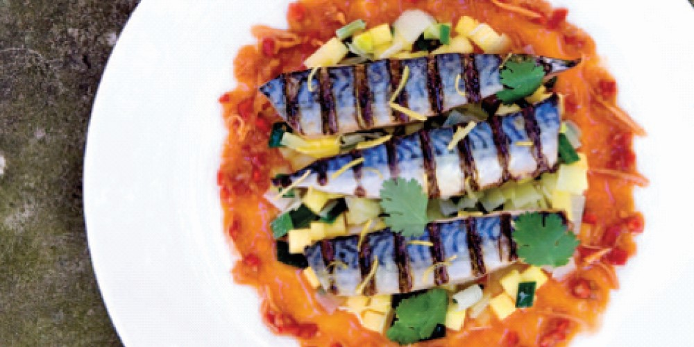 Aromatic grilled grouper