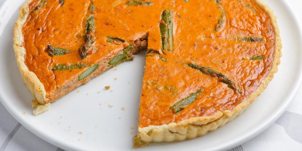 British asparagus & crab tart