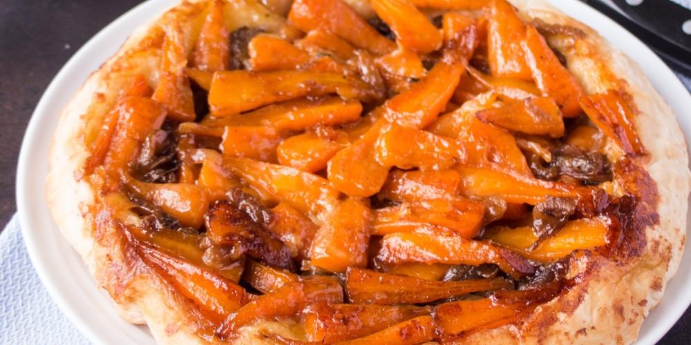 Chantenay carrot tarte tatin