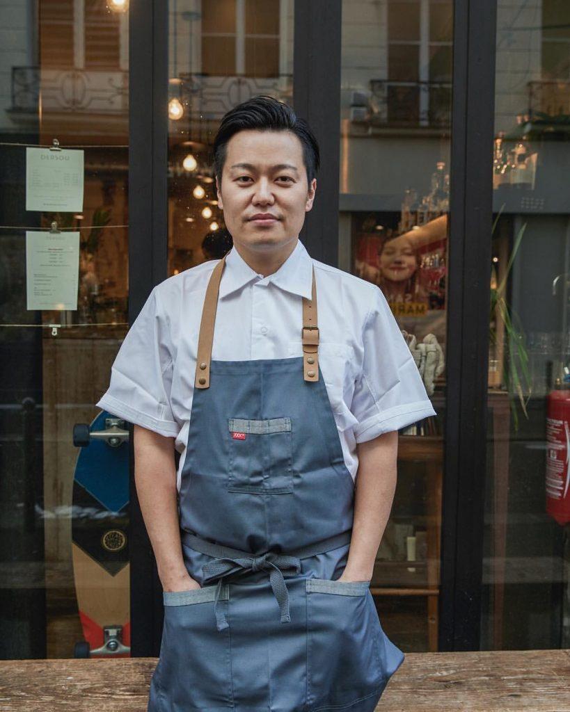 chef Taku Sekine from the cheval d'or restaurant