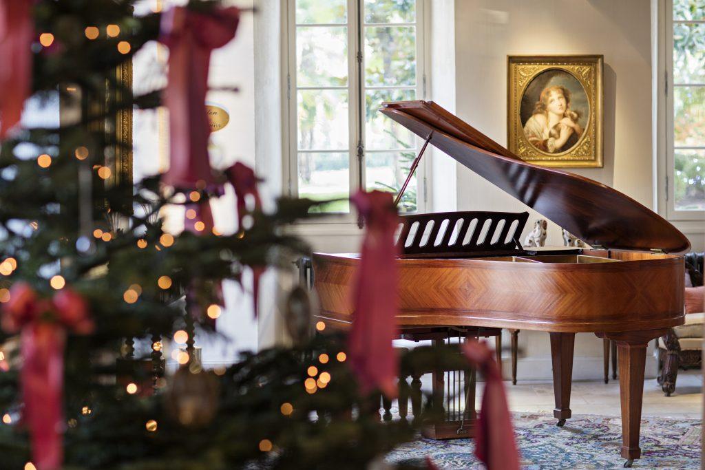 Christmas decorations at Les Prés d'Eugénie