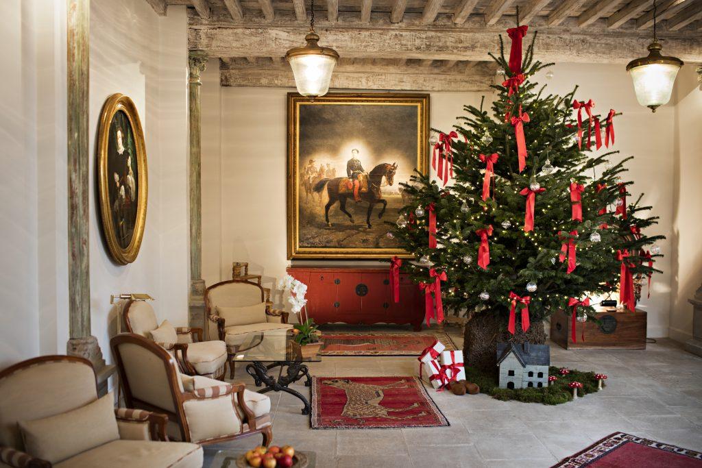 Christmas tree at Les Prés d'Eugénie