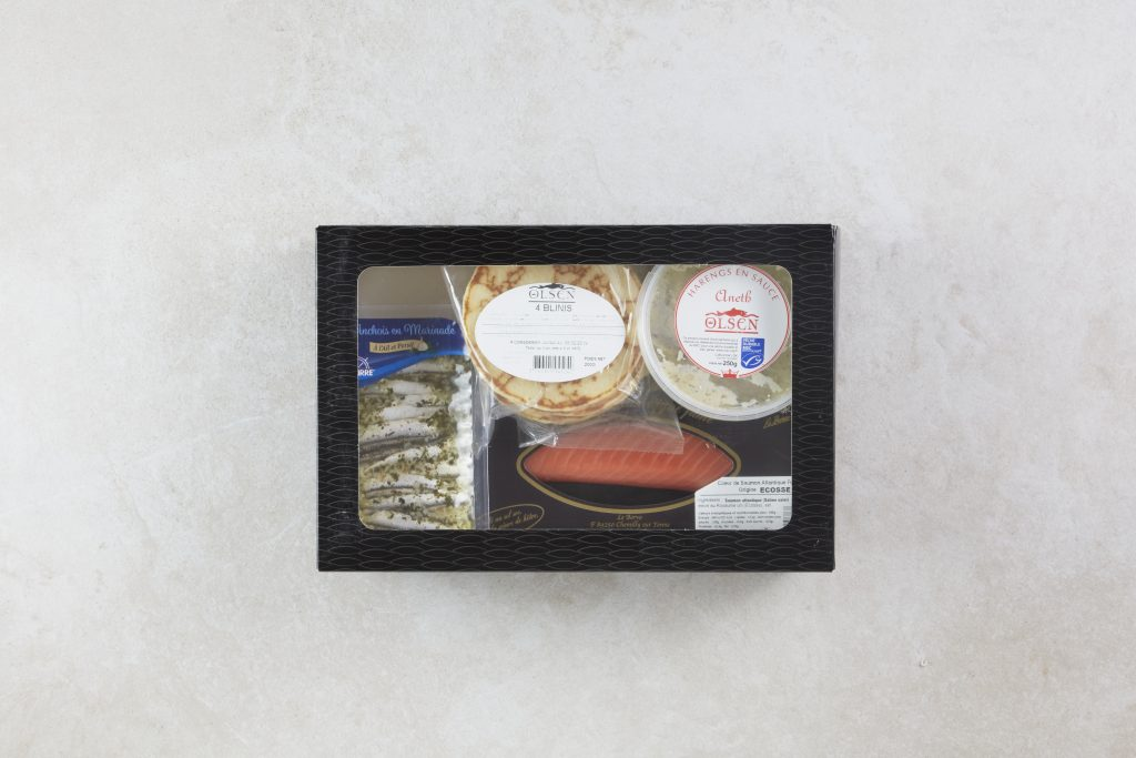 Scandinave fish and shop box selection