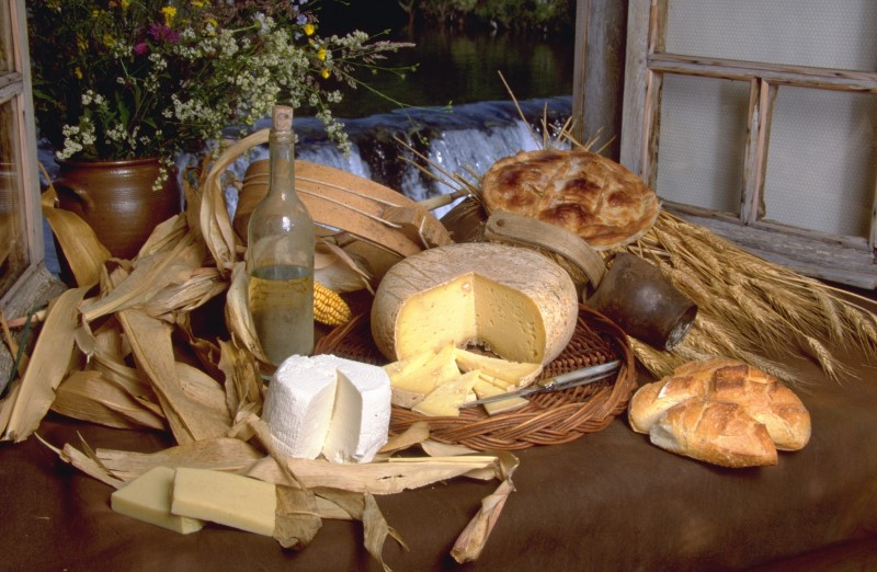 French Basque country cheese board