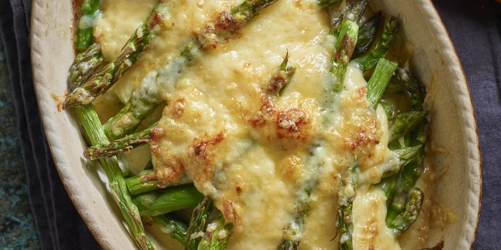 Baked Asparagus and Comte by chef Laura pope and comte