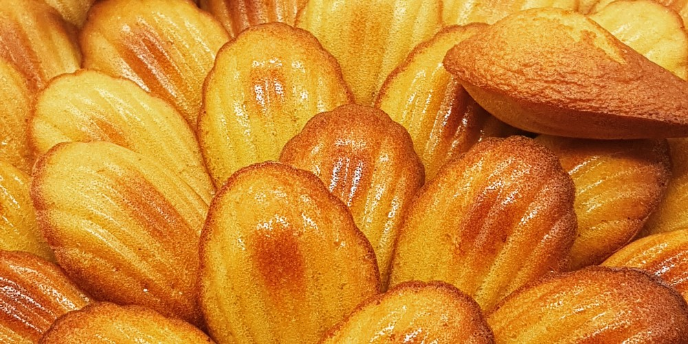 Madeleines with citrus hints