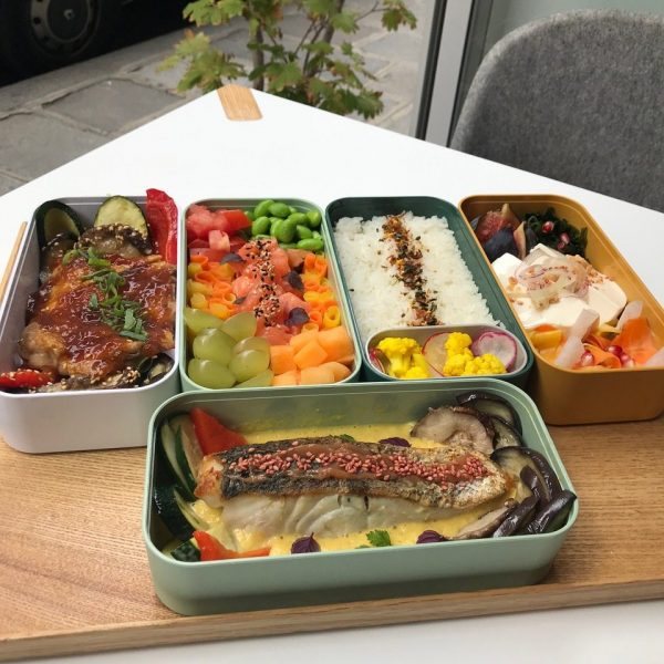 Options of the bento boxes
