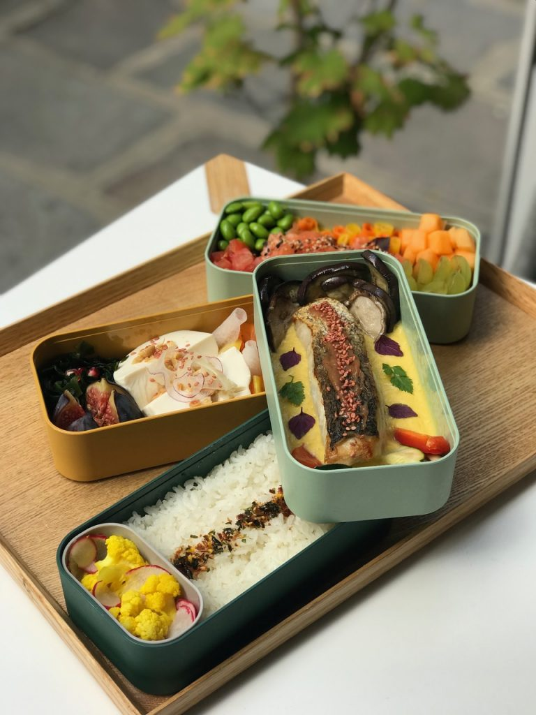 bento boxes at the japanese takeaway