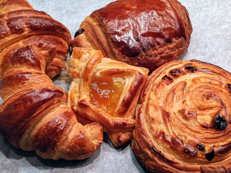 a selections of freshly made pastry