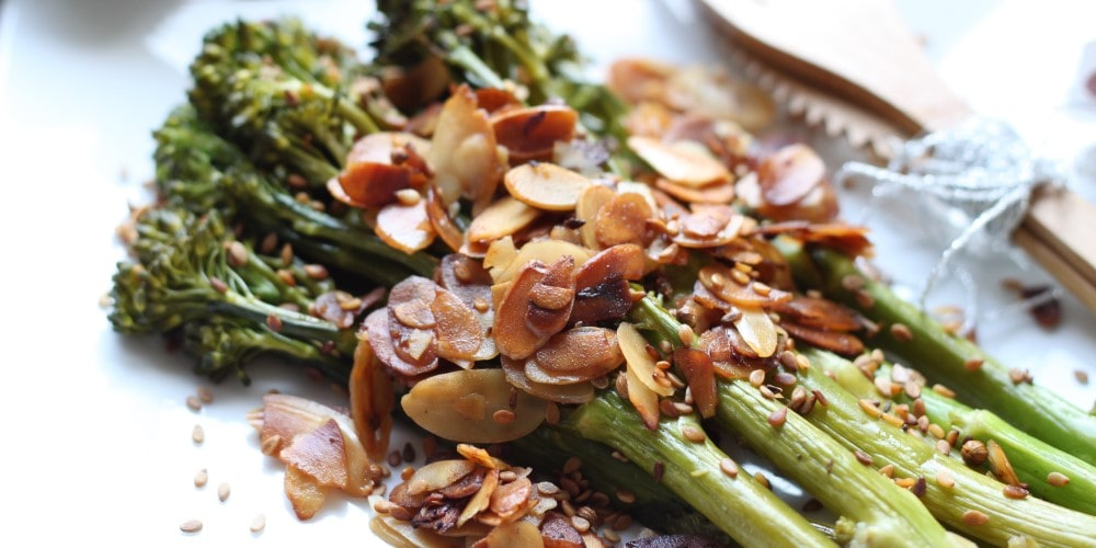 Sautéed tenderstem broccoli with almonds