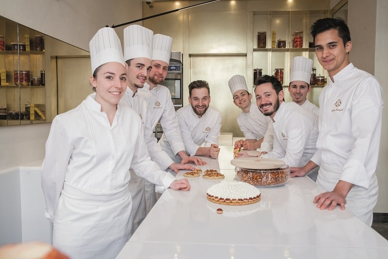 patisserie chefs with Cédric Grolet