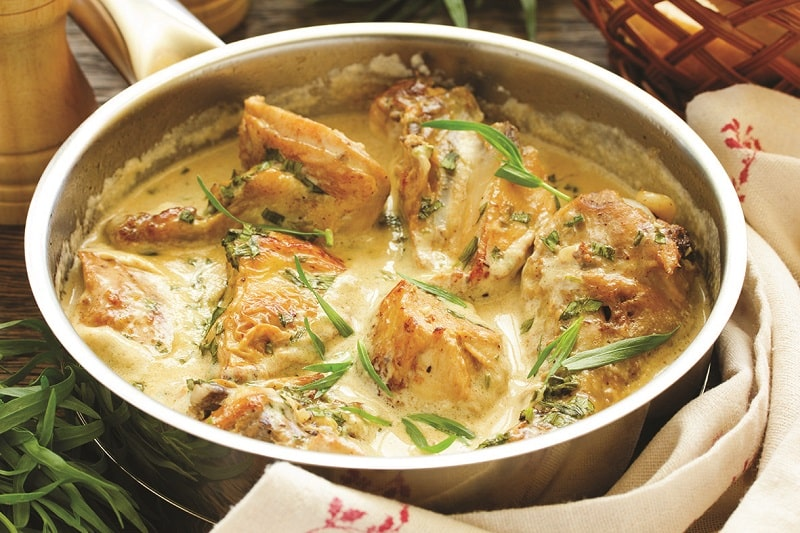 french chicken dish in wine