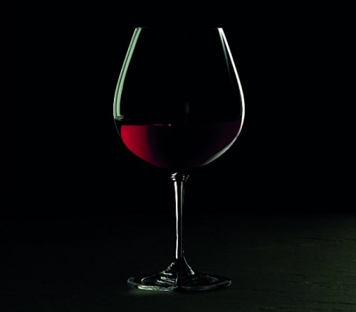 Large bowl red wine glass
