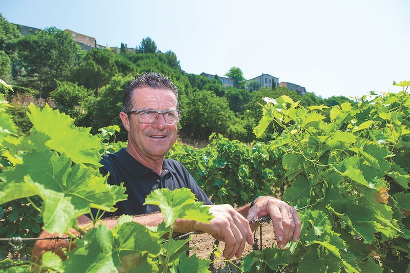 Domaine Ruffinato in his vineyard