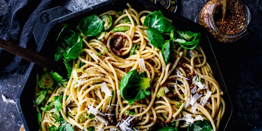 Brussel sprout pasta
