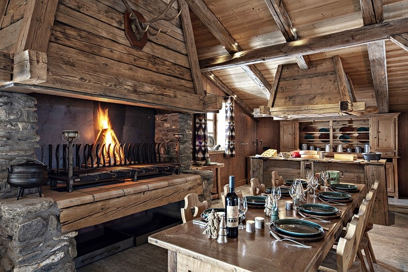 Interior restaurant design at alpine dining