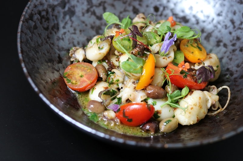 small cuttlefish in parsley