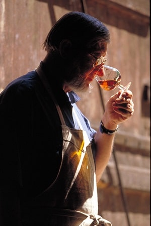 A gentleman tasting the Armagnac