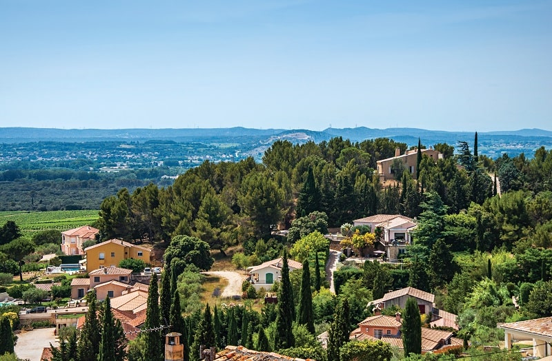 The hills of Provence as seen from the village of Châteauneuf du Pape