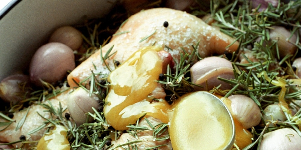 Duck confit with shallots