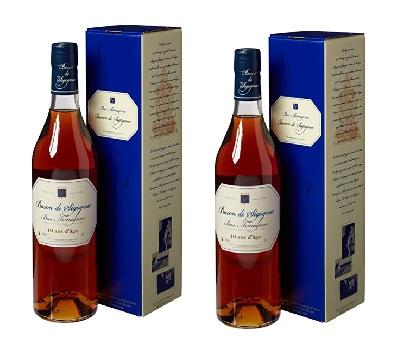 Bottles of armagnac