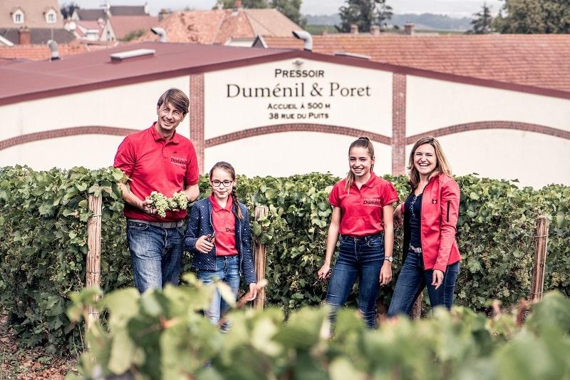 Dumenil Family in vineyard