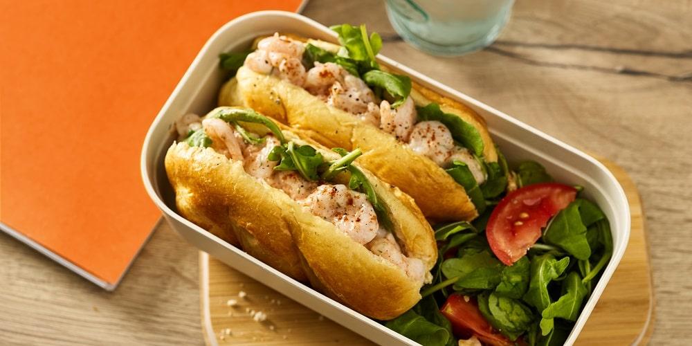 Posh prawn salad sandwich