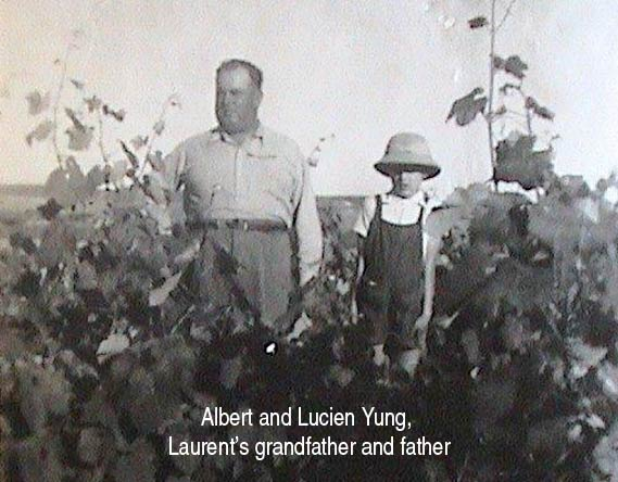 Laurent Yung with his grandfather