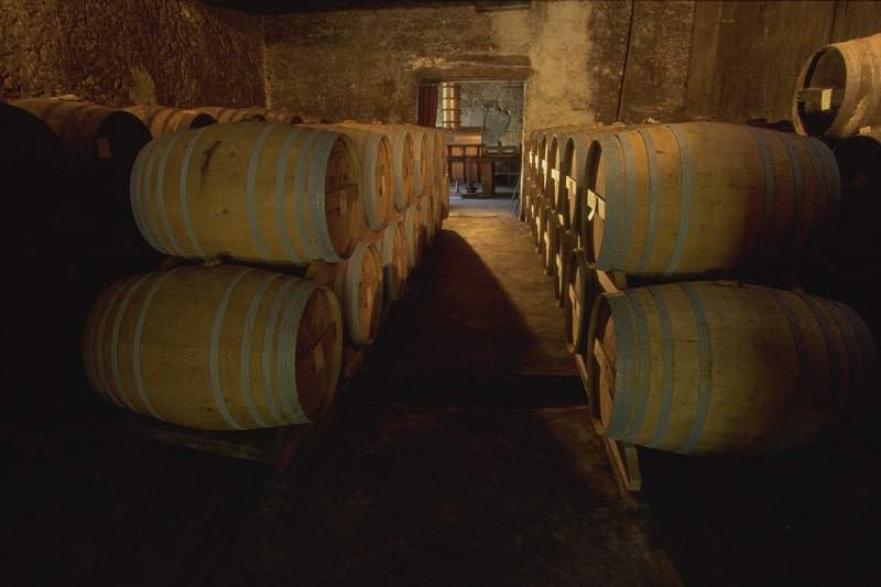 Barrels of armagnac